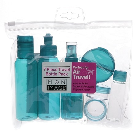 Mon Image 7 Piece Travel Bottle Pack - 1 set