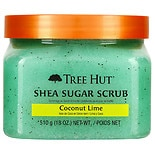 Tree Hut Ultra Hydrating and Exfoliating Scrub for Nourishing Essential Body Care Coconut Lime