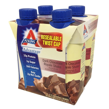 Atkins Advantage Shakes Dark Chocolate Royale, 4 pk