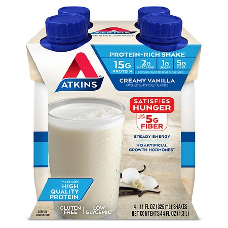 Atkins Advantage Shakes French Vanilla, 4 pk