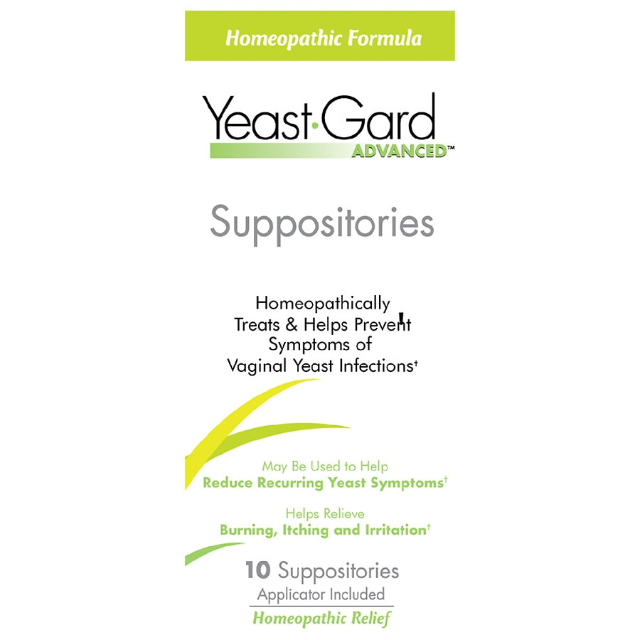 YeastGard Advanced Homeopathic Suppositories