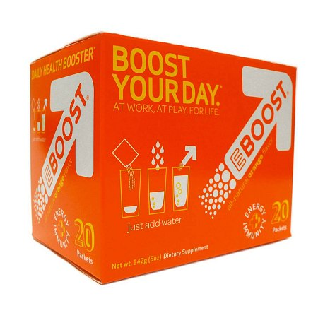 EBOOST Daily Health Booster Effervescent Powder Packets Orange, 20 pk