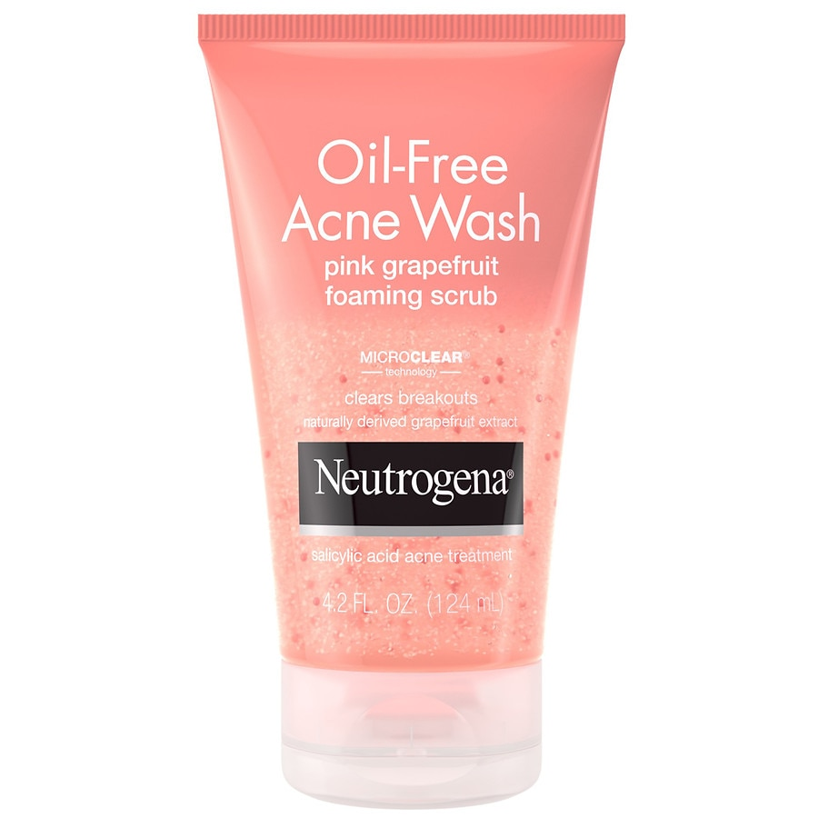 Neutrogena Oil Free Acne Wash Facial Scrub Pink Grapefruit Walgreens