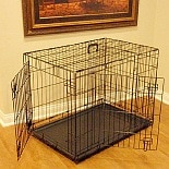 Majestic Pet Products Double Door Folding Dog Crate Cage Medium, 36 inch