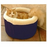 Majestic Pet Products Cat Cuddler Pet Bed 16 inch Blue