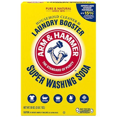 Arm & Hammer Super Wash Soda, Detergent Booster - 55 oz.