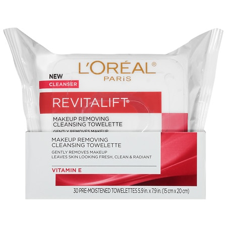 L'Oreal Paris Revitalift Radiant Smoothing Wet Cleansing Towelettes