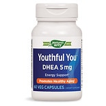 Enzymatic Therapy Youthful You DHEA 5mg, Ultracaps