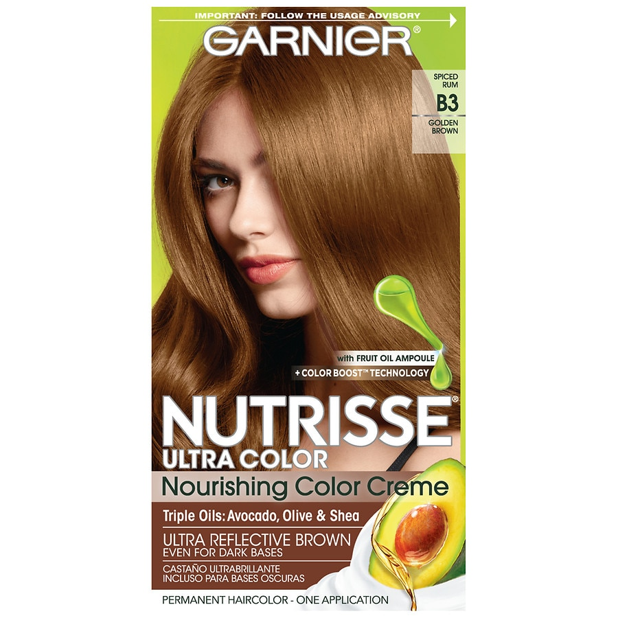 Garnier Nutrisse Ultra Color Nourishing Hair Creme B3 Golden Brown Cafe Con Leche