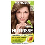 Garnier Nutrisse Nourishing Hair Color Creme Light Ash Brown 61 (Mochaccino)