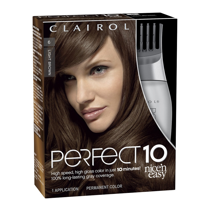 Clairol Nice N Easy Perfect 10 Permanent Hair Color006 Light Brown
