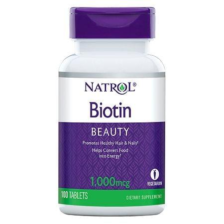 Natrol Biotin 1000 mcg Dietary Supplement Tablets