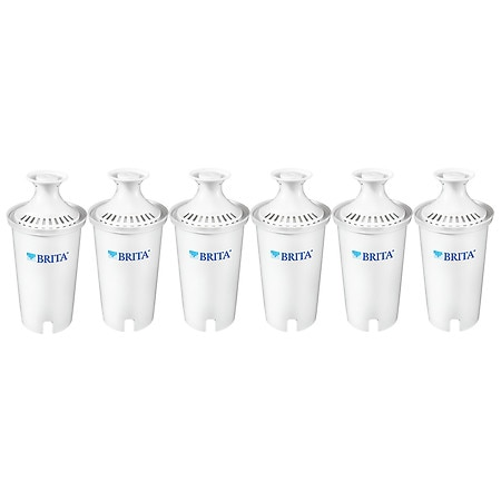 Brita Standard Replacement Water Filters for Pitchers and Dispensers, BPA Free - 6 ea