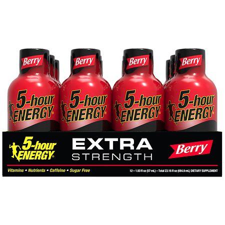 5-Hour Energy Extra Strength Energy Shot Berry - 2 oz. x 12 pack