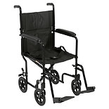 Drive Medical Medical Dash Lightweight Transport Wheelchair Black