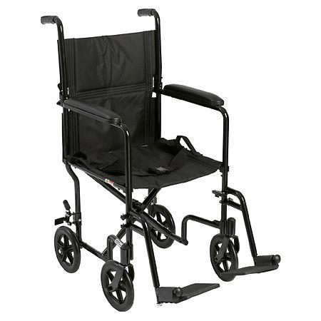 Walgreens Transport Chair Lightweight Drive Medical Lightweight Transport Wheelchair Black | Walgreens