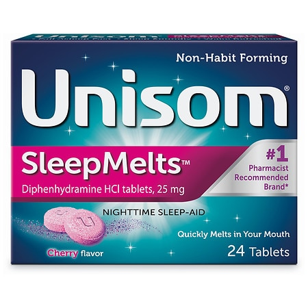 Unisom QuickMelts Nighttime Sleep-Aid Tablets Cherry