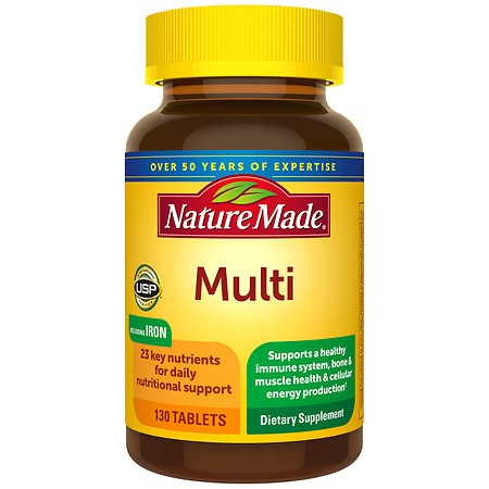 Nature Made Multi Complete With Iron Dietary Supplement Tablets