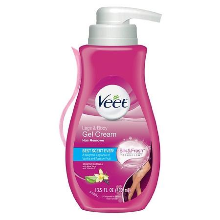 Veet Hair Remover Fast Acting Gel Cream, Sensitive Skin Formula - 13.5 oz.