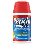 Pepcid Complete Acid Reducer + Antacid, Chewable Tablets Tropical Fruit