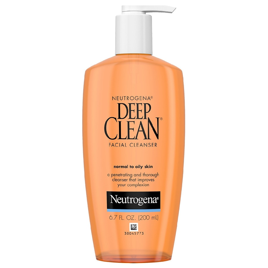 Neutrogena Deep Clean Facial Cleanser, For Normal to Oily ...