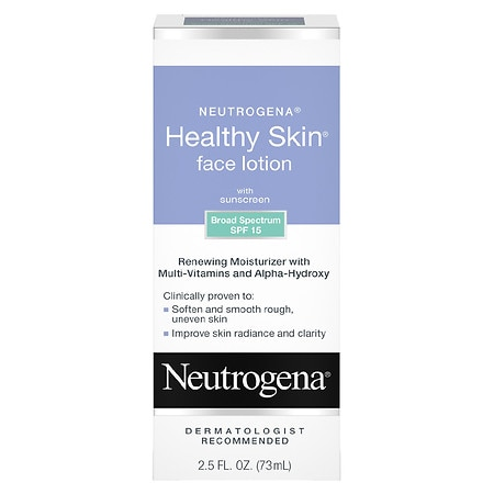 Neutrogena Healthy Skin Face Lotion, with SPF 15 Multivitamin Facial Treatment With Alpha Hydroxy - 2.5 fl oz