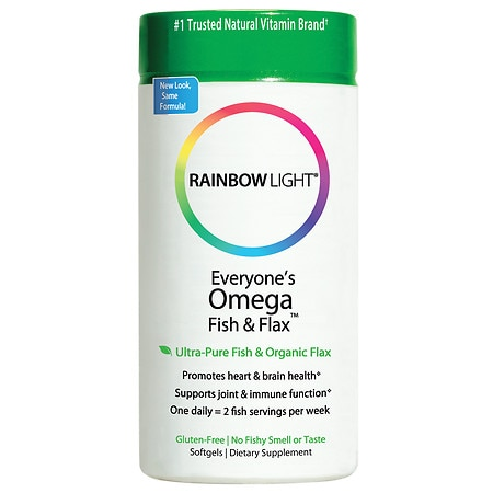 Rainbow Light Just Once Everyone's Omega Fish & Flax Oil Dietary Supplement Softgels
