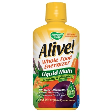 Nature's Way Alive! Whole Food Energizer Liquid Multivitamin Dietary Supplement Citrus