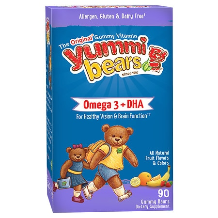 Yummi Bears DHA, Gummy Bears - 90 ea