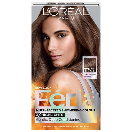 L'Oreal Paris Feria Tortoiseshell Browns Permanent Haircolour Gel Cool Medium Brown T53
