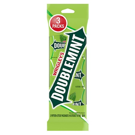Doublemint Chewing Gum - 15 ea x 3 pack