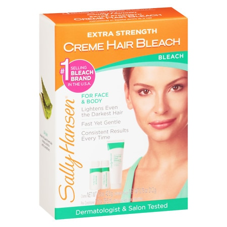 Hair Bleach : Sally Hansen Creme Hair Bleach Kit Extra Strength Walgreens