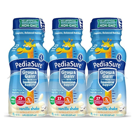 PediaSure Complete, Balanced Nutrition Shake Vanilla, 8 fl oz Bottles