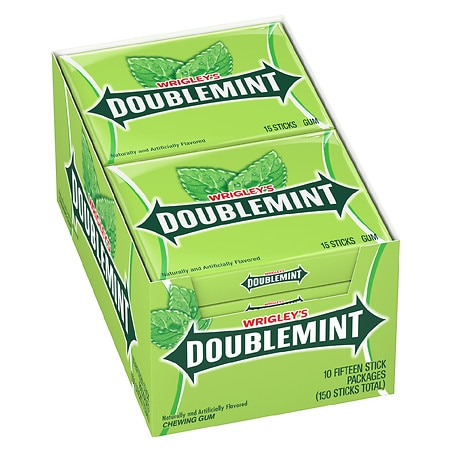 Doublemint Chewing Gum - 10 ea x 15 pack