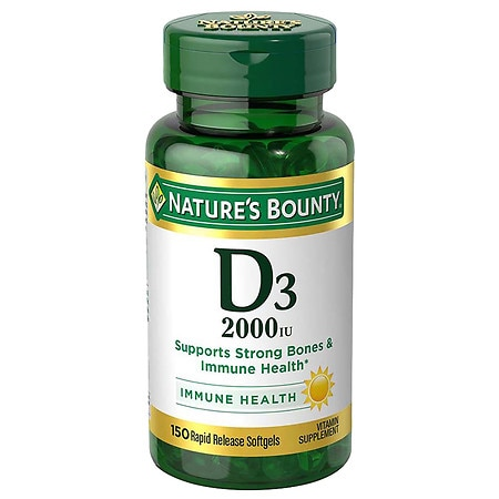 Nature's Bounty Super Strength Vitamin D3 2000 IU Dietary Supplement Softgels
