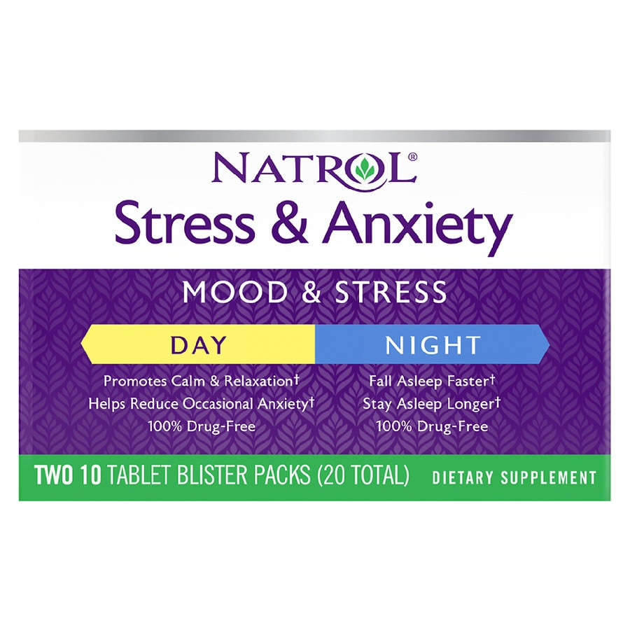 Natrol Stress Amp Anxiety Day Amp Night Dietary Supplement