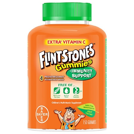 Flintstones Immunity Support + C, Children's Multivitamin Gummies