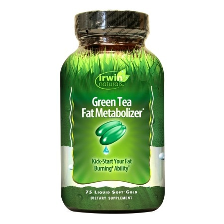 Irwin Naturals Green Tea Fat Metabolizer Dietary Supplement Liquid Softgels - 75 liquid softgels