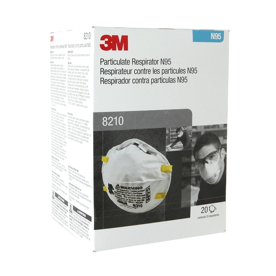 4 pack 3m 8210 plus n95 dust mask
