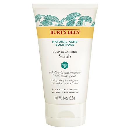 Burt's Bees Natural Acne Solutions Pore Refining Scrub, Exfoliating Face Wash for Oily Skin - 4 oz.