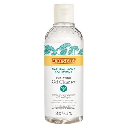 Burt's Bees Natural Acne Solutions Purifying Gel Cleanser, Face Wash for Oily Skin - 5 fl oz
