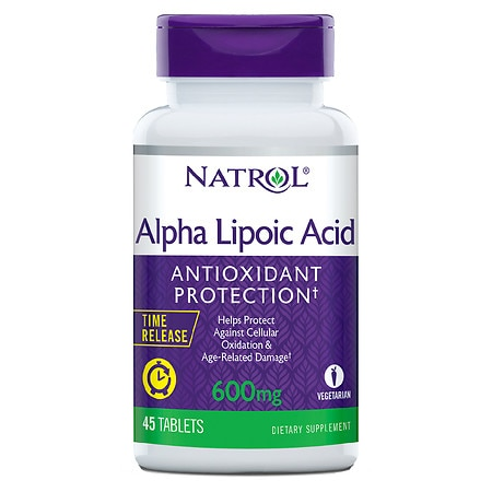 Natrol Alpha Lipoic Acid TR Time Release 600 mg Tablets - 45 ea
