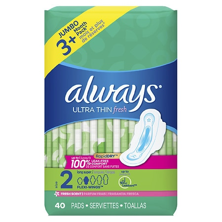 Always Ultra Thin Active Pads with Flexi-Wings Clean Scent
