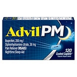 Advil PM Ibuprofen Pain Reliever & Nighttime Sleep Aid Caplets