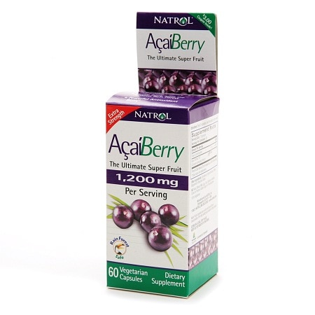 Natrol Acai Berry 1200 mg Dietary Supplement Capsules