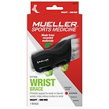 Mueller Green Fitted Wrist Brace, Maximum Support, Right S/ M