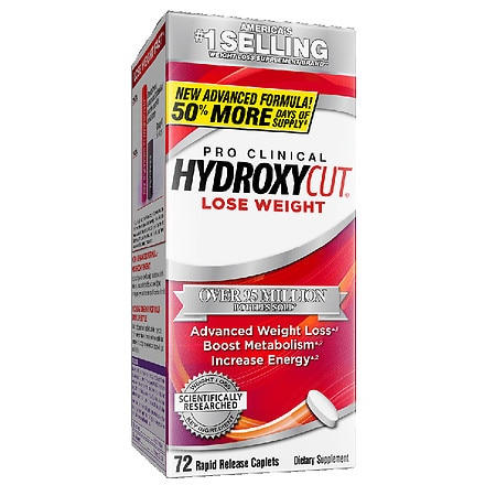 Hydroxycut Pro Clinical Weight Loss Dietary Supplement Caplets - 72 ea