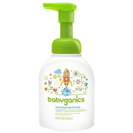 Babyganics Foaming Hand Soap Fragrance Free - 8.45 oz.