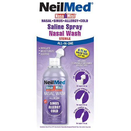 Saline nasal washes