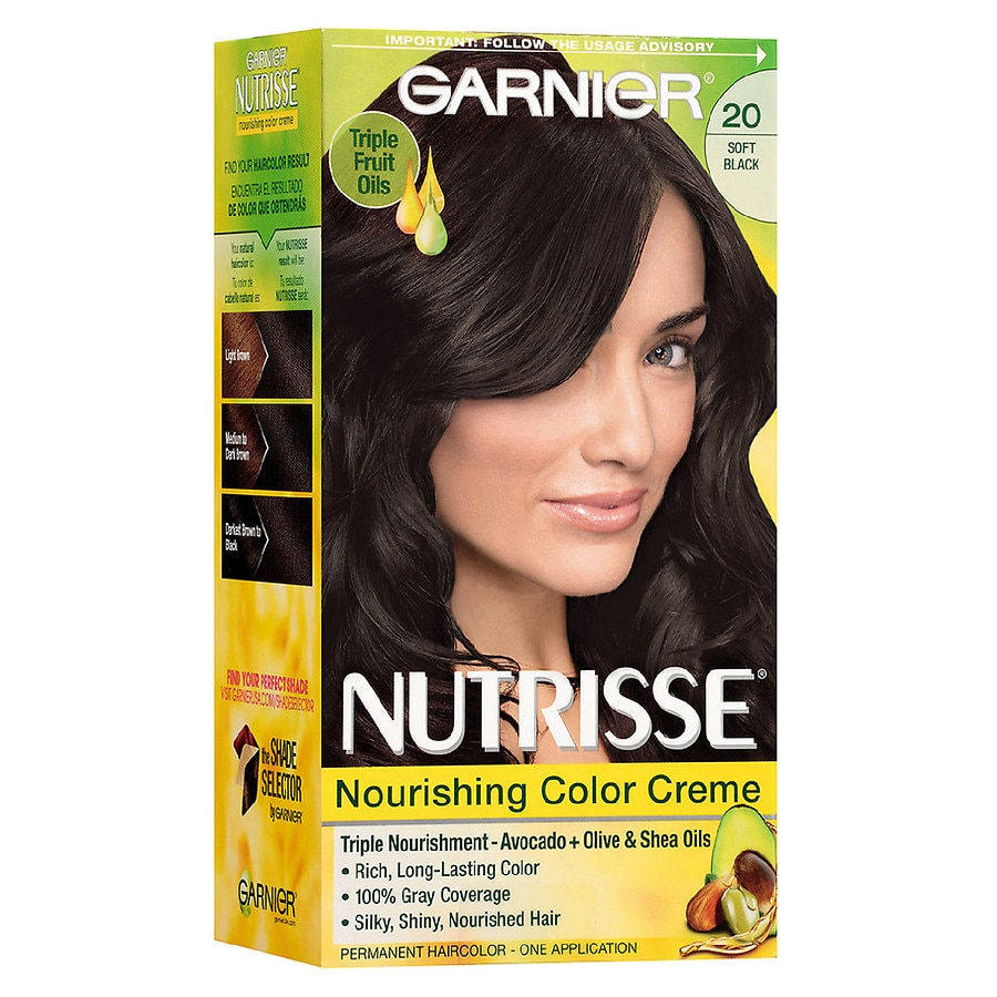 Garnier Nutrisse Nourishing Hair Color Cremesoft Black 20 Black